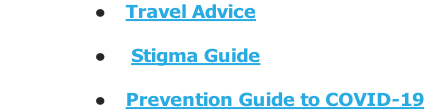 Travel Advice   Stigma Guide  Prevention Guide to COVID-19